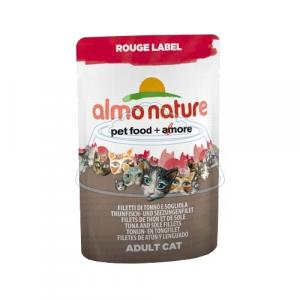 Almo Nature Rouge Label Adult Cat Tuna and Sole Fillets 55 г