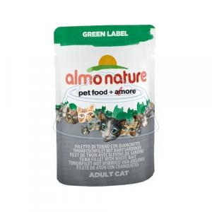 Almo Nature Green Label Adult Cat Tuna Fillet and White Bait 55 г 24 шт