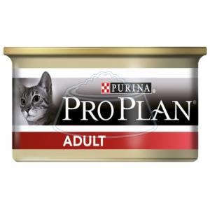Purina Pro Plan Adult feline canned 85 г 3 шт