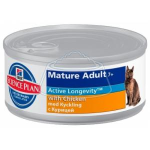 Hill's Science Plan Feline Mature Adult 7+ Active Longevity with Chicken Canned 156 г 12 шт