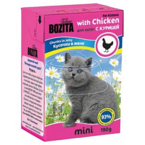 Bozita Feline MINI chunks in jelly with Chicken 190 г 16 шт