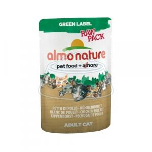 Almo Nature Green Label Raw Pack Adult Cat Chicken Breast 55 г