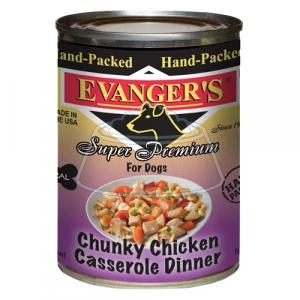Evanger's Hand-packed Super Premium Chunky Chicken Casserole Dinner консервы для собак 369 г 12 шт