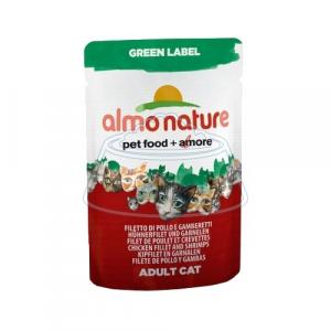 Almo Nature Green Label Adult Cat Chicken Fillet and Shrimps 55 г