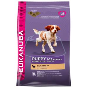 Eukanuba Puppy Dry Dog Food All Breeds Rich in Lamb & Rice 1 кг