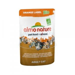 Almo Nature Orange Label Bio Adult Cat Veal and Vegetables 70 г 30 шт