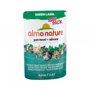 Almo Nature Green Label Raw Pack Adult Cat Skipjack Tuna Fillet 55 г